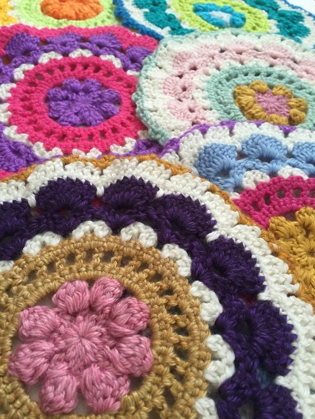 Set of Crochet Mandalas by Ruby Janes Lane