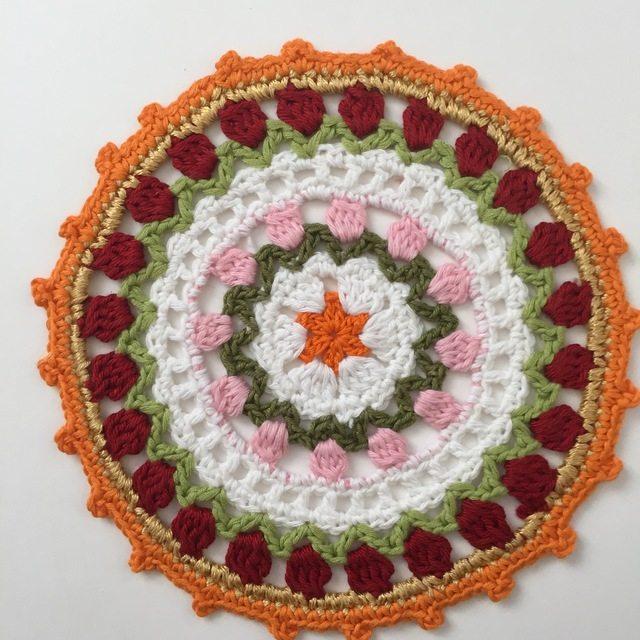 Dianne45's Crochet MandalasForMarinke - orange