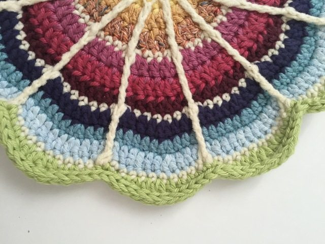 Amy Made This Crochet Mandala for Marinke
