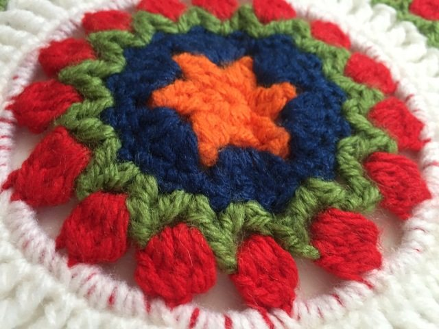 crochet mandala by jodiebodie