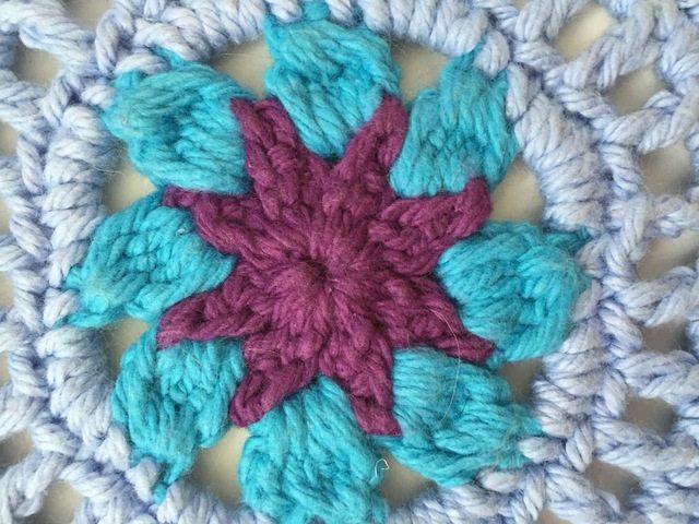 Kathleen's Rainbow Crochet Mandala For Marinke
