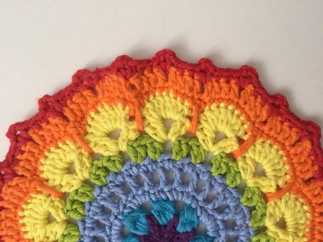 Kathleen's Rainbow Crochet Mandalas For Marinke
