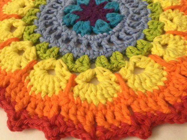 Kathleen's Crochet Rainbow Mandala For Marinke