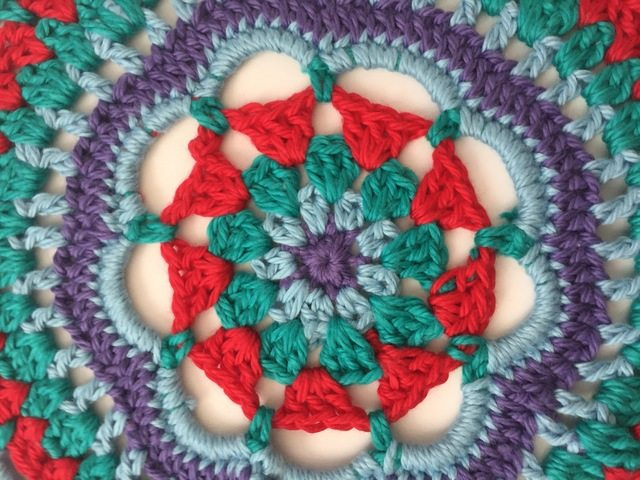 center detail of anonymous crochet mandala