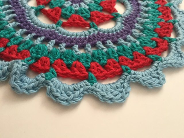 Special Anonymous Crochet Mandalas For Marinke (blue)