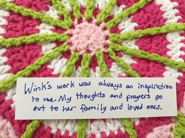 Grace W Crochet Contribution to Mandalas for Marinke