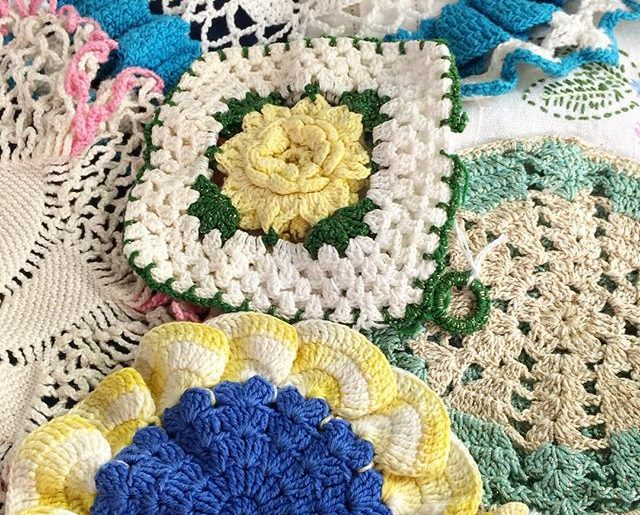 Crochet Potholders Coasters Trivets And More Kitchen Crochet