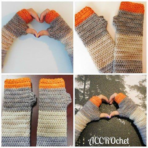 julie_accrochet crochet fingerless mittens
