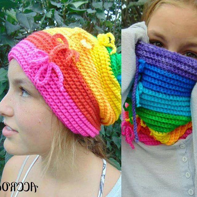 julie_accrochet crochet rainbow pattern