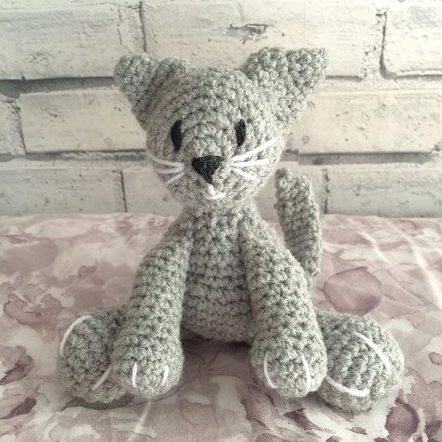 kellyandcrochet crochet cat