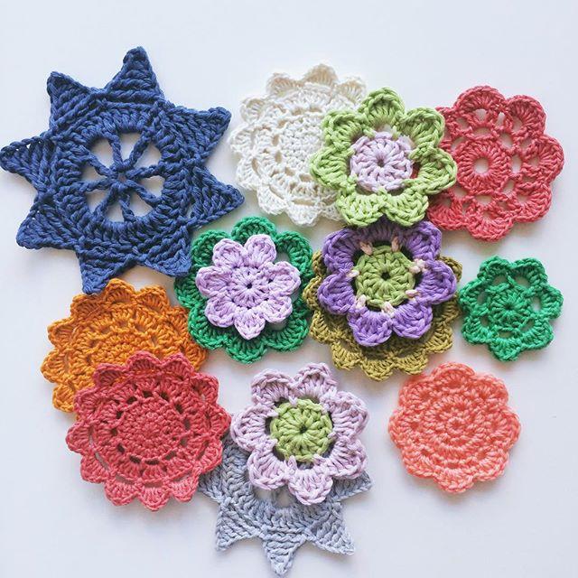 knitpurlhook crochet flowers