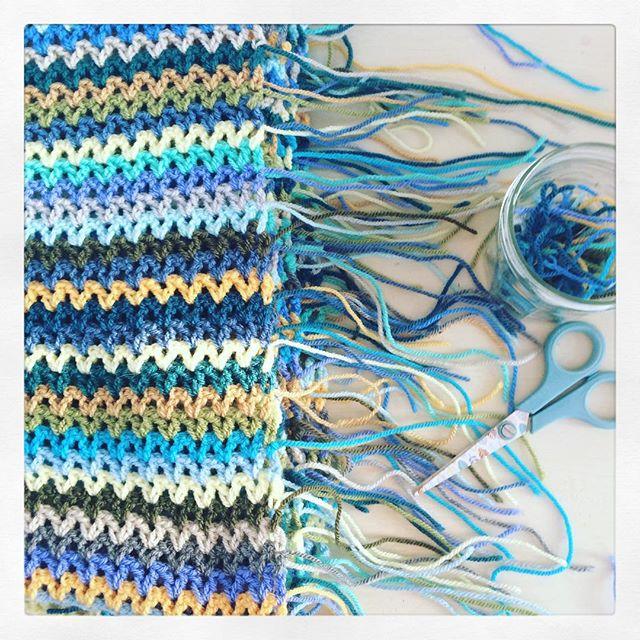littlebirdbunting crochet ends to weave in