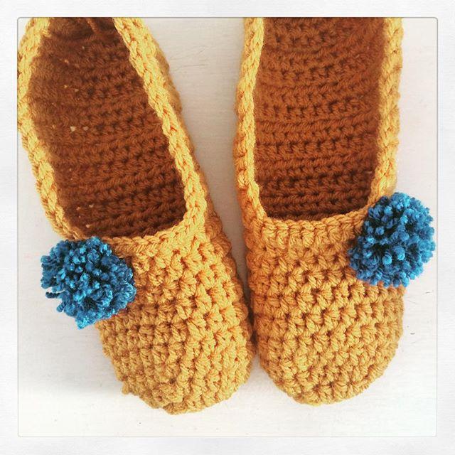 littlebirdbunting crochet slippers