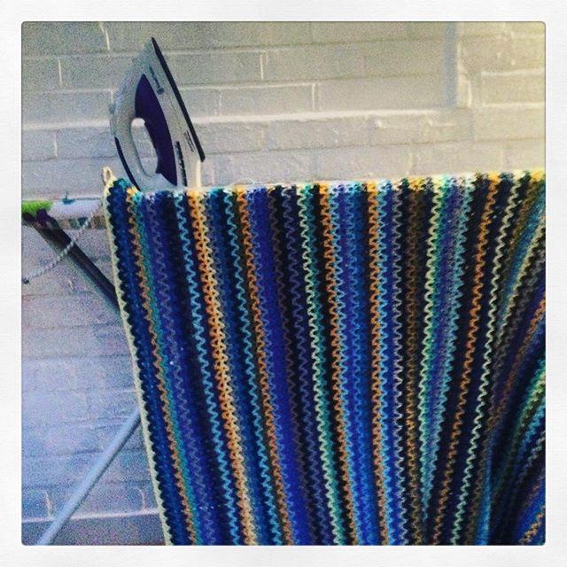 littlebirdbunting crochet steam blocking blanket