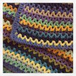 littlebirdbunting crochet vstitch blanket