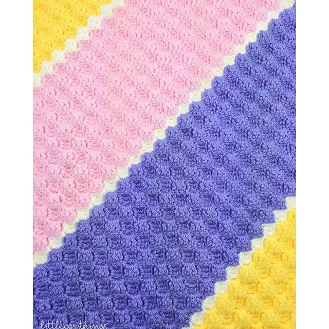 littlecosythings crochet blanket c2c