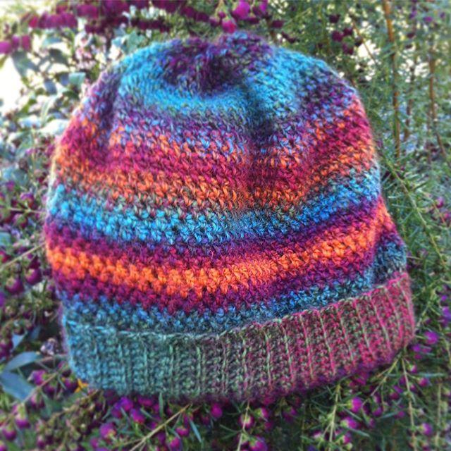 lyndapc crochet colorful slouch beanie