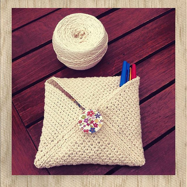 lyndapc crochet twine envelope