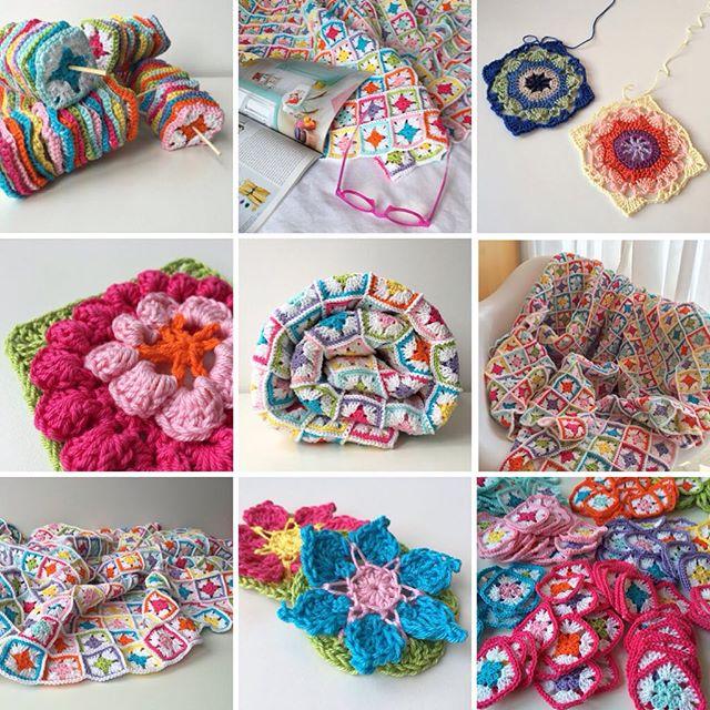 marretjeroos crochet colorful collage