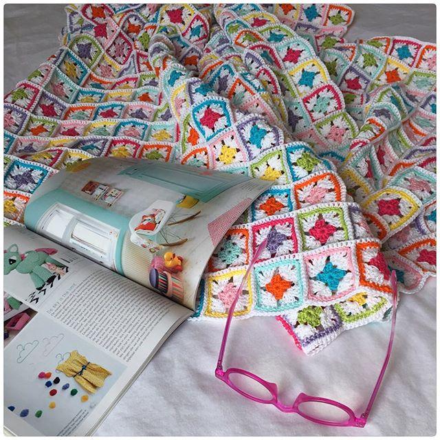 marretjeroos crochet colorful squares blanket
