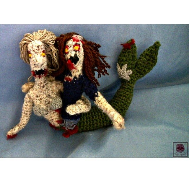 mermaid zombie crochet by kim.sofia1