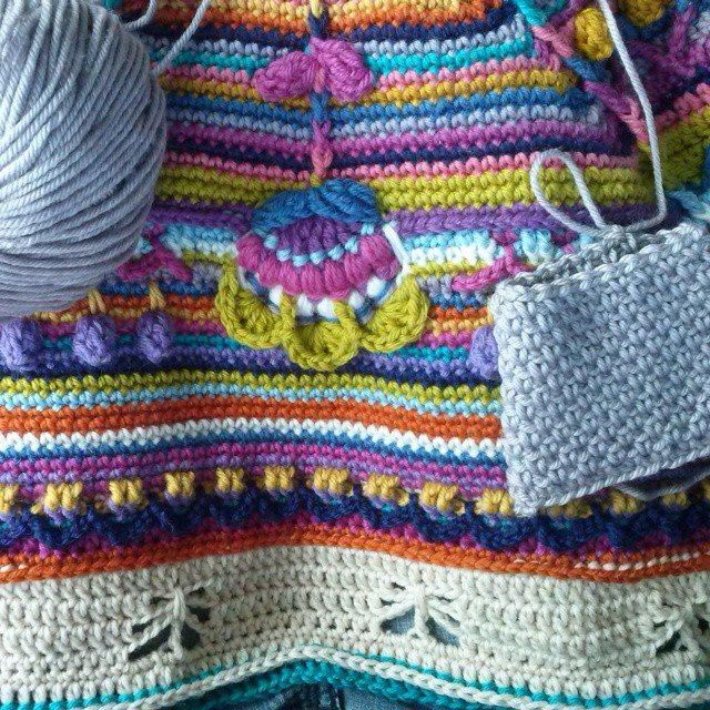 mrsdaftspaniel colorful crochet blanket
