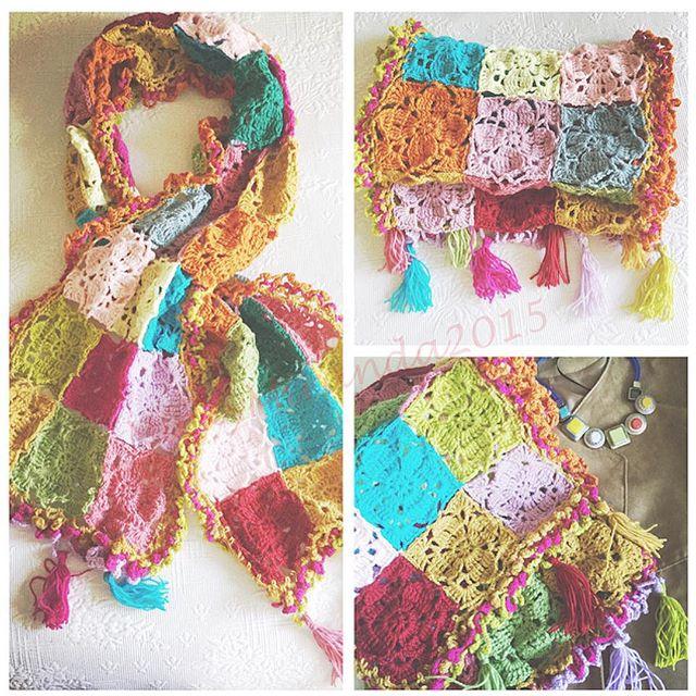 nickymirandacrochet crochet colorful squares blanket