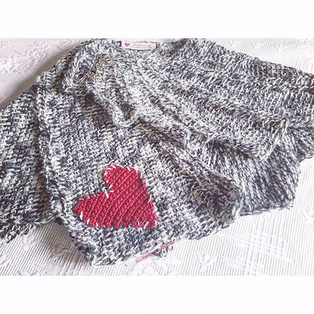 nickymirandacrochet crochet heart sweater
