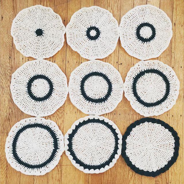 nine crochet mandalas vercillo