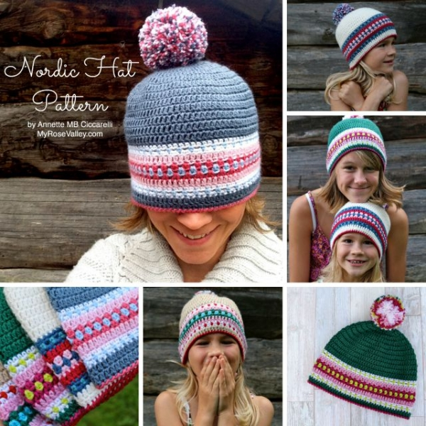 nordic hat crochet pattern