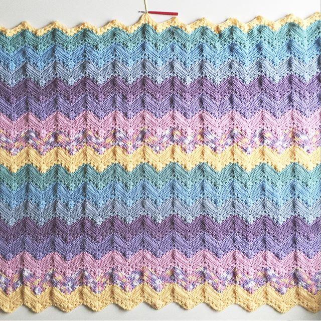 olivesandpickles crochet blanket pastels