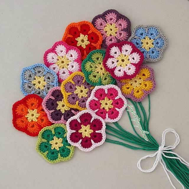 papatyayshem crochet flowers