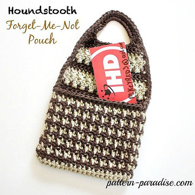 patternparadise crochet forget me not pouch