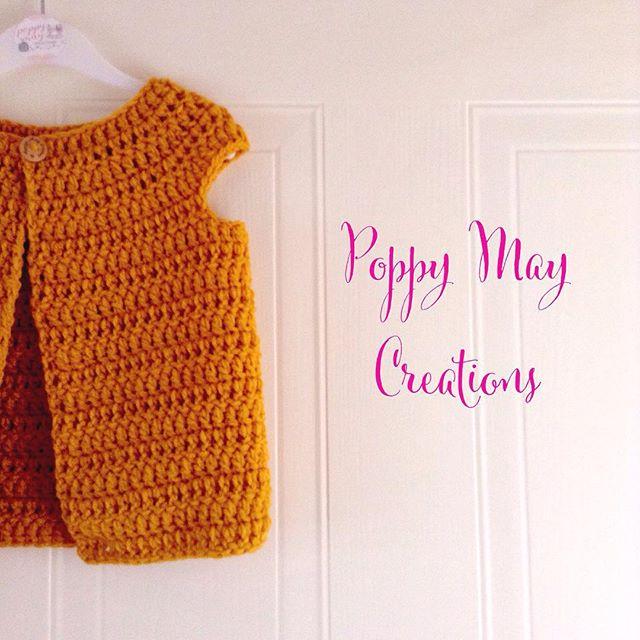 poppymaycreations crochet cardi