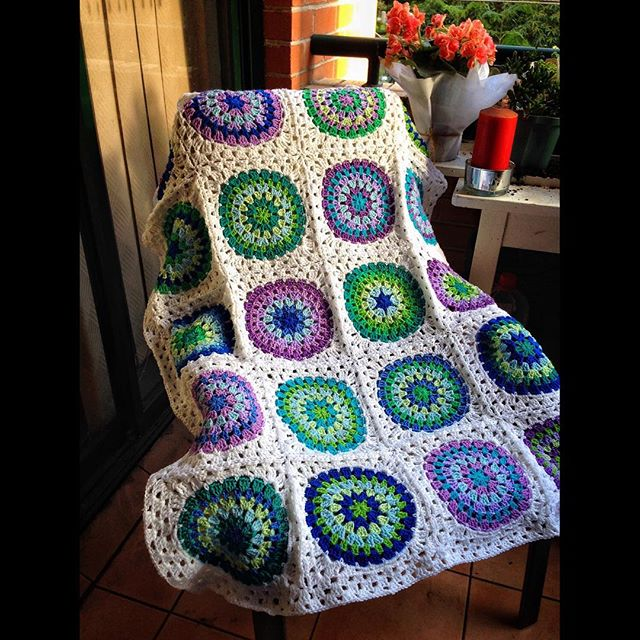 queen_babs crochet blanket Squaring the Big Circle