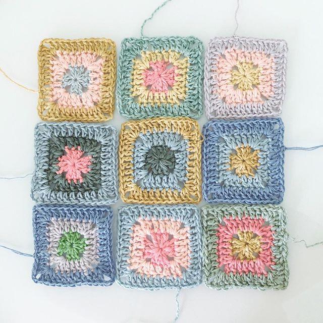 rawrustic crochet granny squares