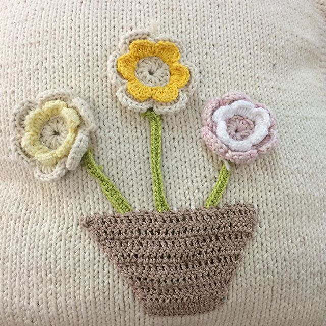 stelcrochet crochet and knit cushion