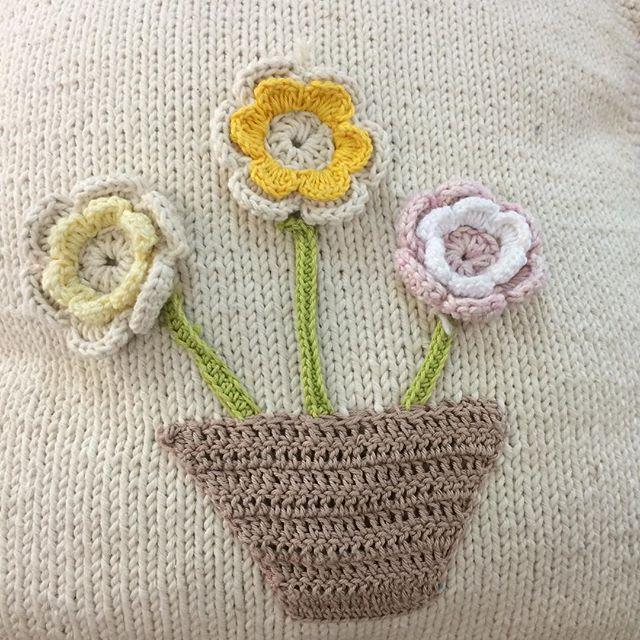 stelcrochet crochet and knit cushion