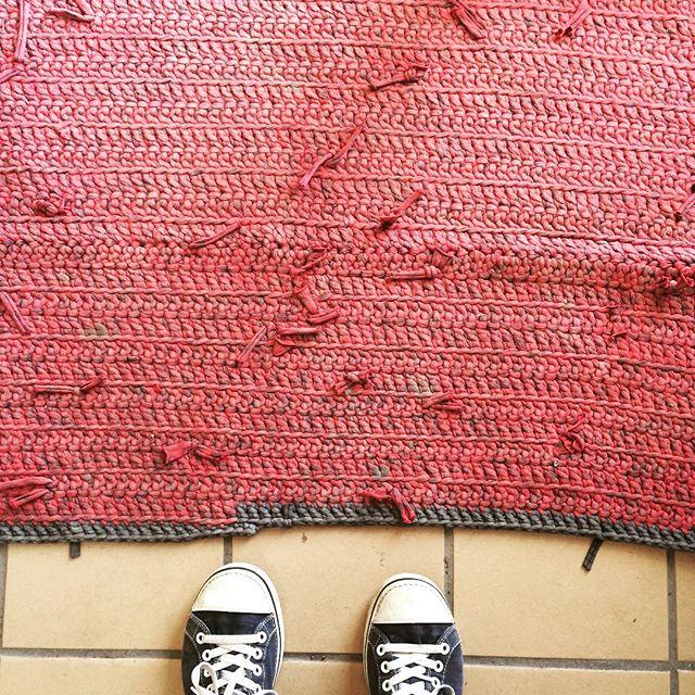 stelcrochet tshirt yarn rug