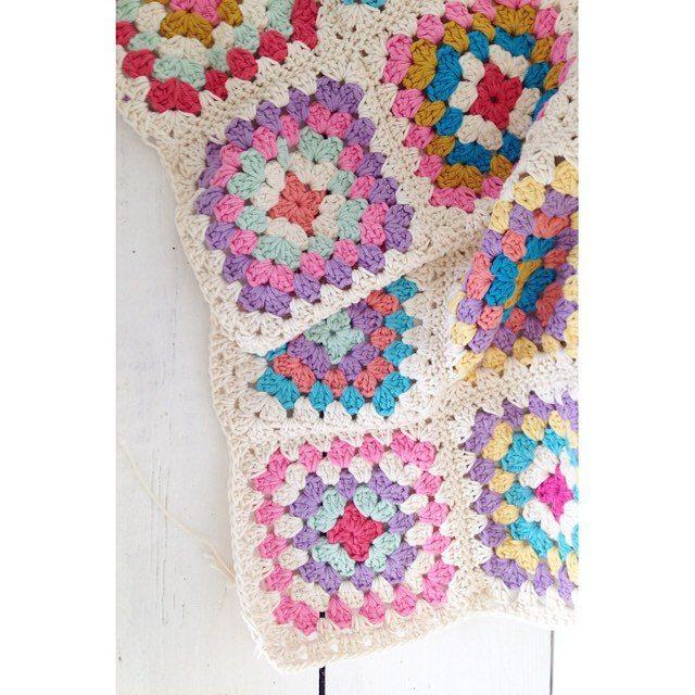 sweet_sharna crochet granny squares blanket