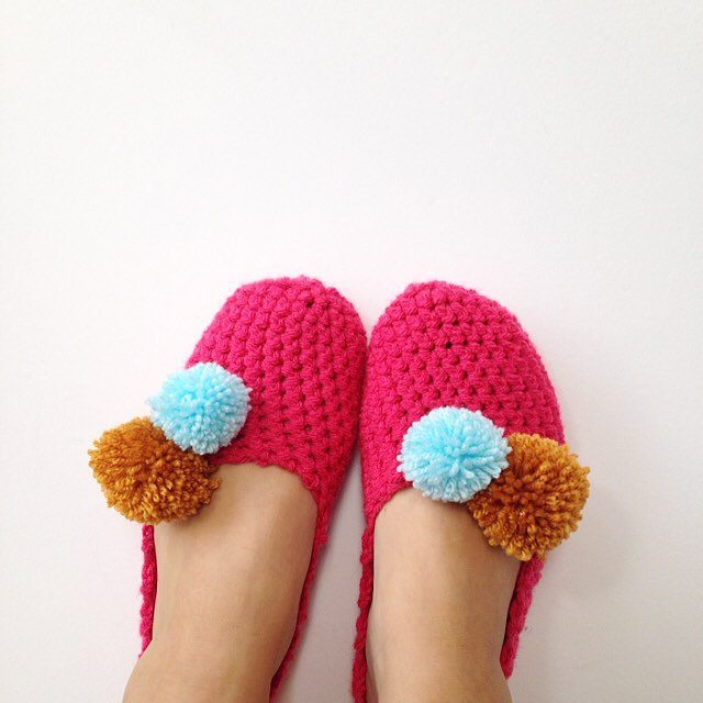 sweet_sharna crochet slippers