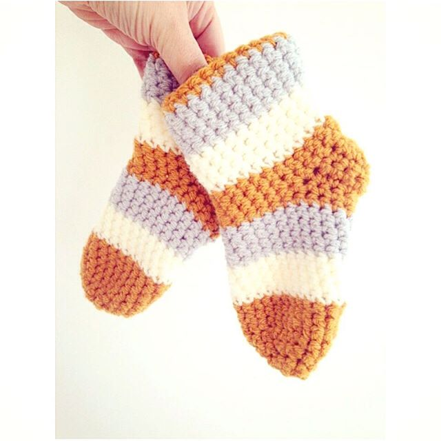sweet_sharna striped crochet autumn socks
