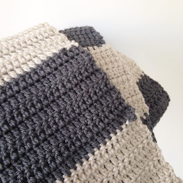 sweet_sharna striped crochet infinity scarf