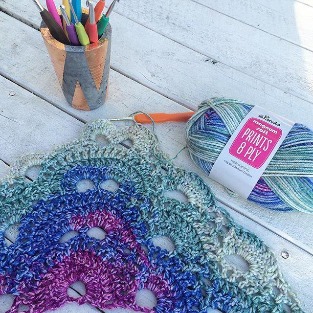 thatgirlwhocrochets crochet virus shawl