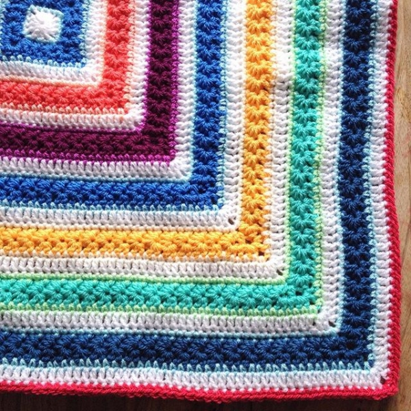 tintocktap crochet rainbow blanket