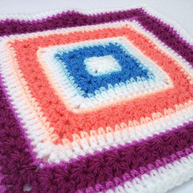 tintocktap crochet stars aligned blankte pattern