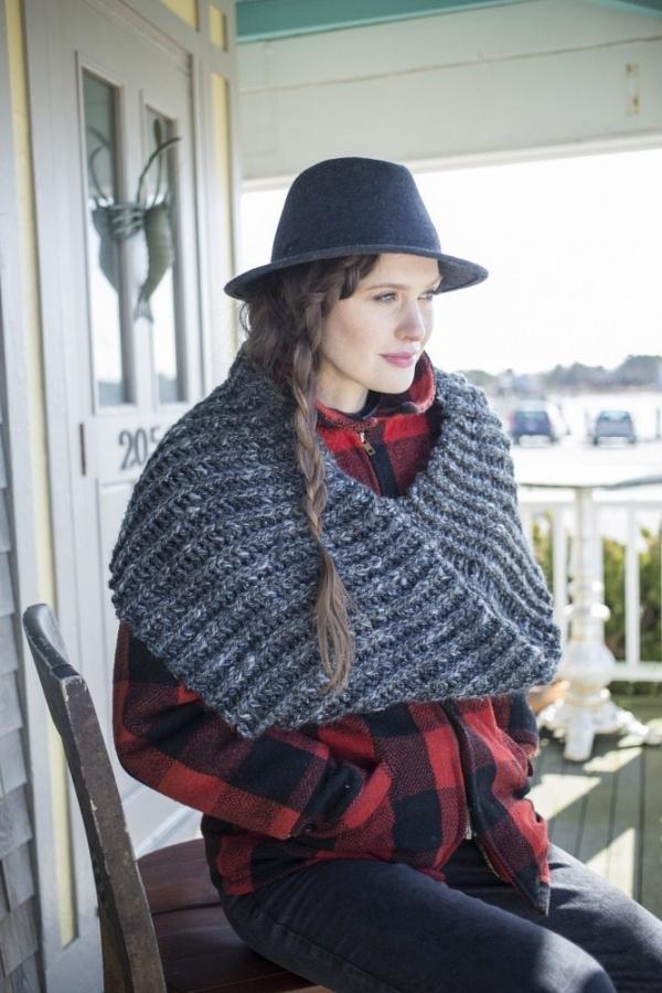 tweed crochet cowl pattern