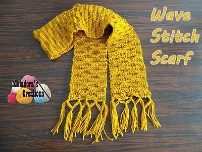 wave steekpatroon sjaal haakpatroon