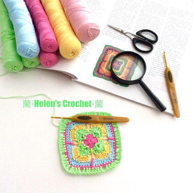 xiaowawa.wasabi crochet granny square