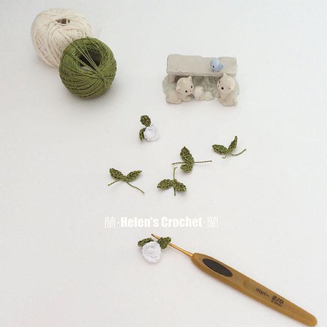 xiaowawa.wasabi crochet leaves